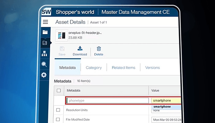 Digital asset management with IBM Master Data Management CE