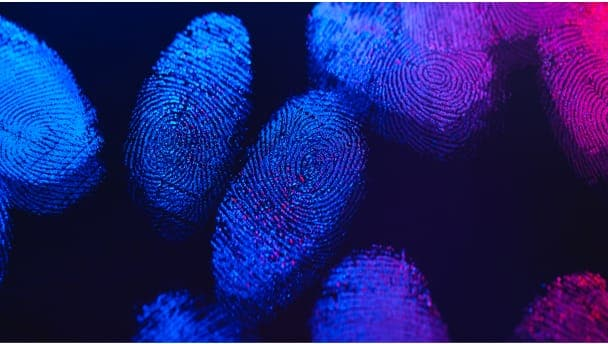 Image of fingerprints to depict automation helping police solve crimes