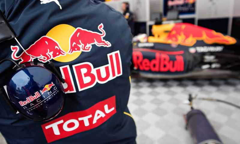 Auto race driver In Red Bull Racing Team jacket