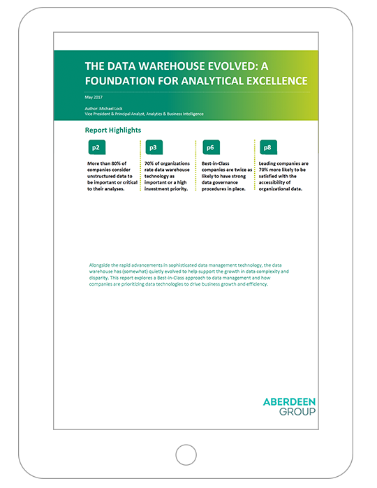 Thumbnail image of report on the data warehouse as a foundation for analytical excellence