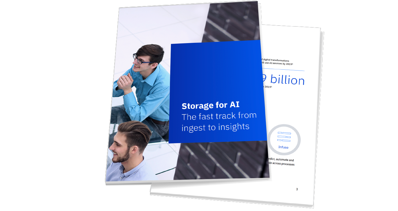 "Cover der Broschüre ""Storage for AI"""