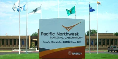 Entrance plate, Pacific northwest nacional laboratory, proudly operated by battelle since 1965