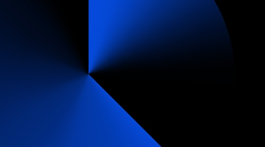 Abstract image with angles of blue gradient
