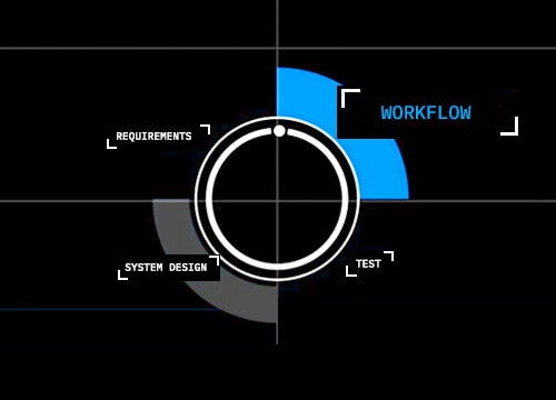 circle graphic workflow selected