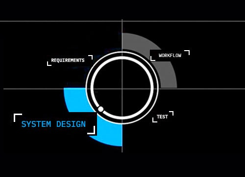circle graphic system design selected
