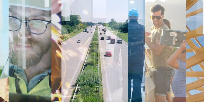 Image of workers and a highway