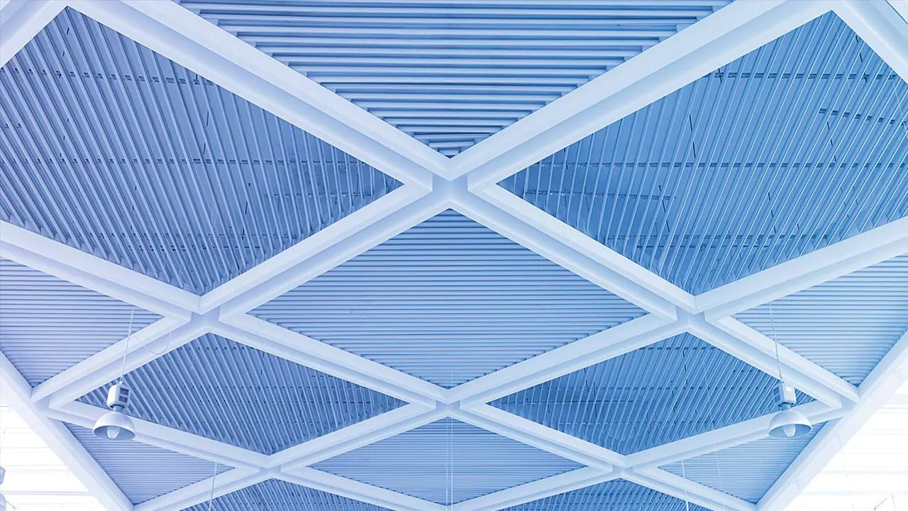blue roof ceiling