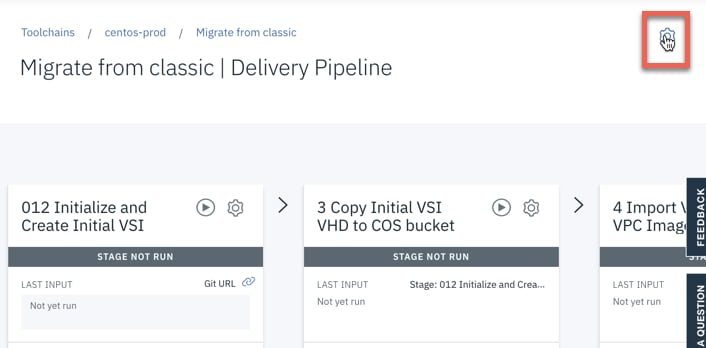 Click on the Delivery Pipeline: