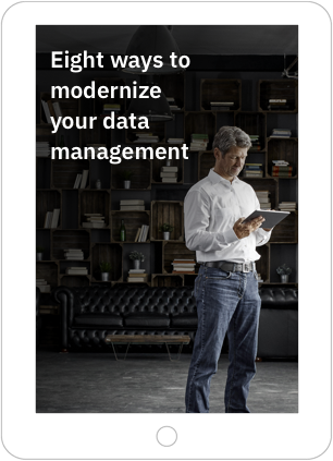 Cover of ebook Eight ways to modernize your data management