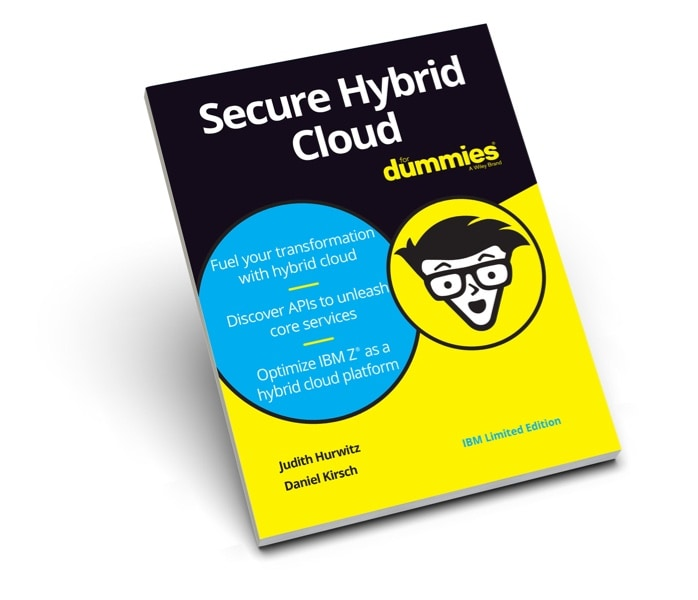 The Secure Hybrid Cloud for Dummies eBook cover