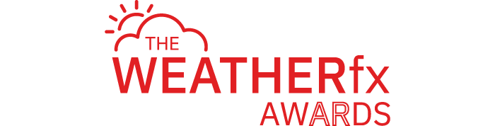 WEATHERfx Awards Logo in Red