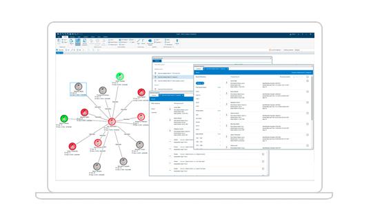 laptop displaying IBM i2 Connect interface