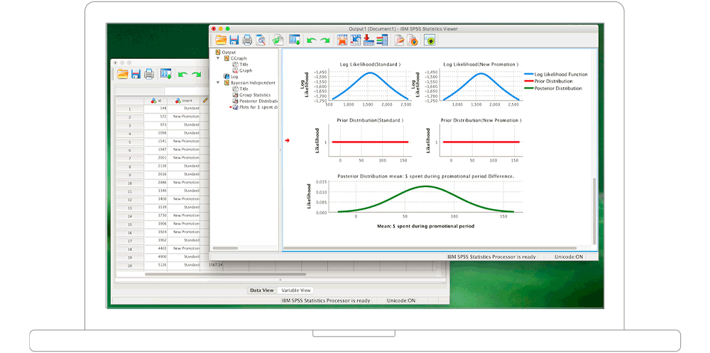 IBM SPSS Statistics user interface