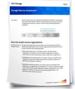 Composite showing Storage Maturity Assessment tool and results pdf