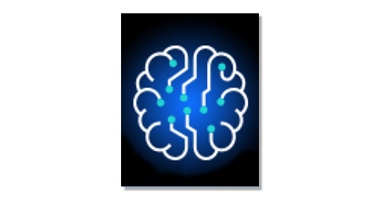 illustration of brain with circuits