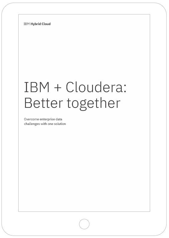 Thumbnail of IBM + Cloudera partnership white paper
