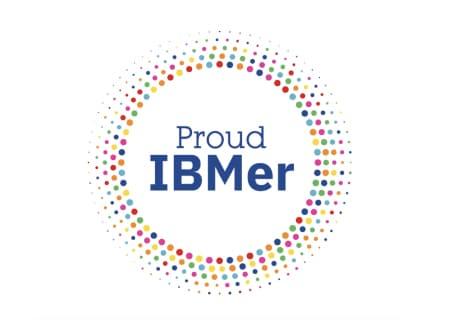 Logo con leyenda en inglés IBMista orgulloso