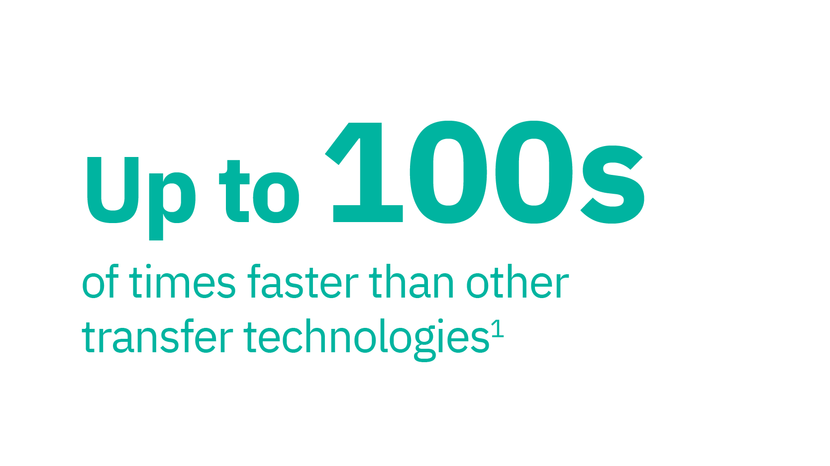 Up to 100s of times faster than other transfer technologies