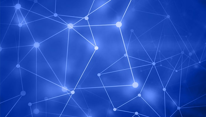 Abstract image of AI network