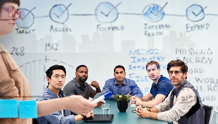 people having an meeting in a agile environment