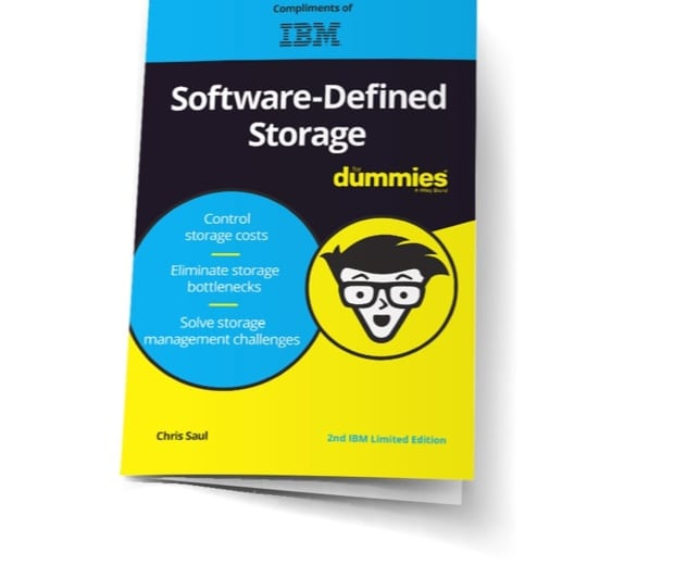 Cover of the Software-Defined Storage for Dummies book
