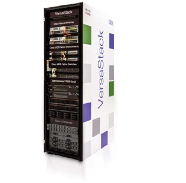 IBM Versastack comprised of consolidated server, storage and switches