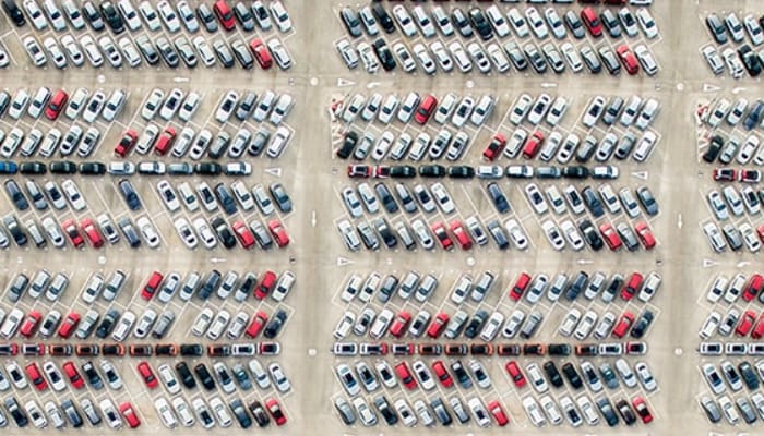 cars in a parking lot