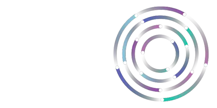Multi-colored circle target graphic