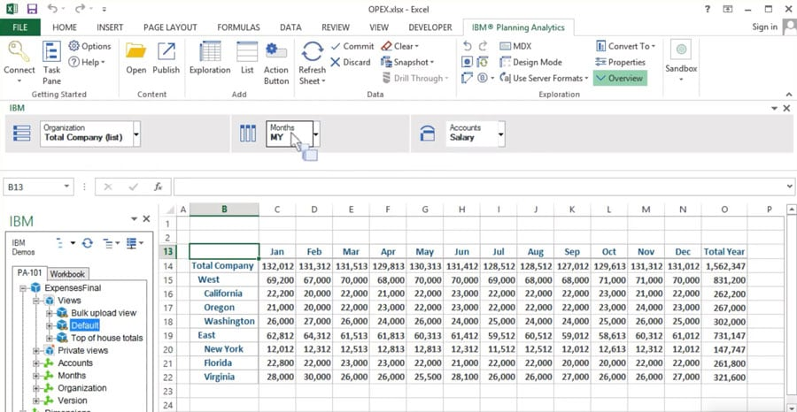 excel screen with some tables