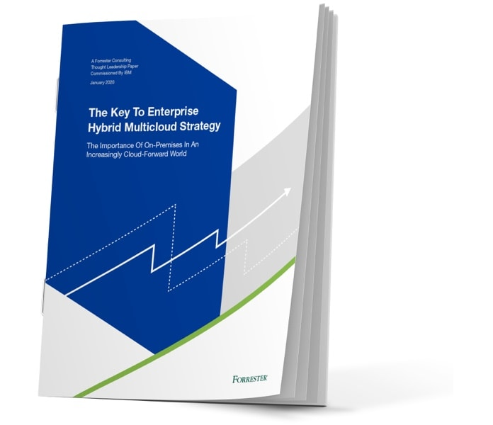 Cover image of ebook titled The key to enterprise hybrid multicloud storage