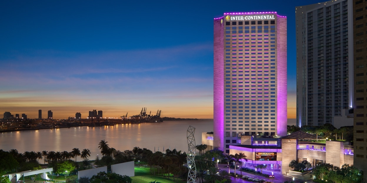 The Intercontinental Miami hotel building