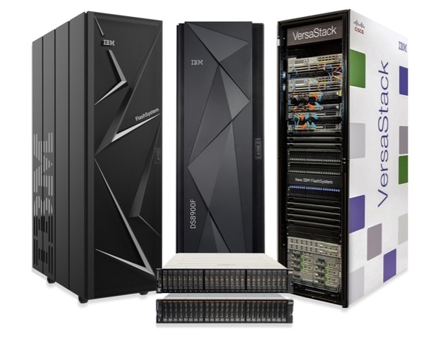 Image of the IBM FlashSystem family of products