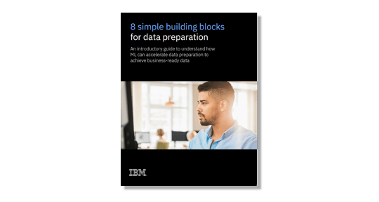 "Capture d'écran de l'e-book ""8 simple building blocks for data preparation"""