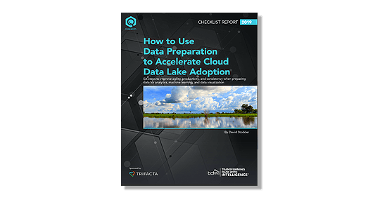 "Capture d'écran du rapport ""How to Use Data Preparation to Accelerate Cloud Data Lake Adoption"""