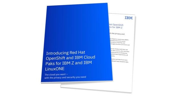 Brief for Red Hat OpenShift and IBM Cloud Paks