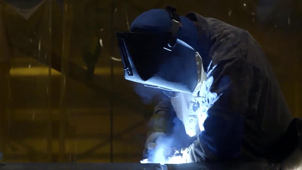 industry worker welding