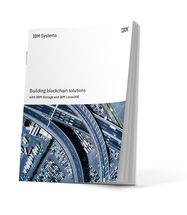 Cover of solution brief titled Building blockchain solutions