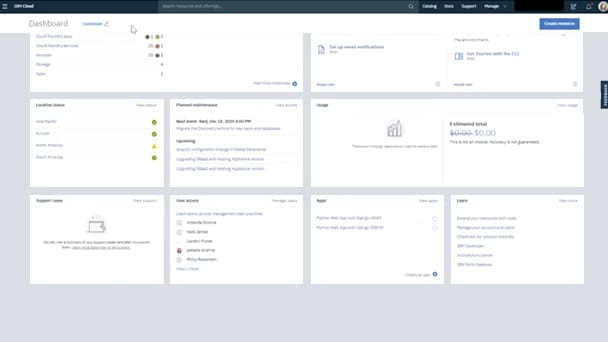 IBM Cloud Console Guide Navigate the Console