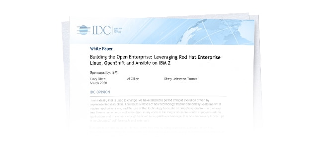 Read the IDC Paper on building an open enterprise