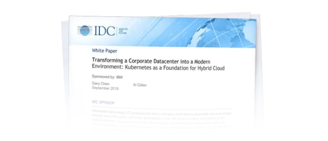 Read the IDC Paper on Kubernetes as a foundation for cloud