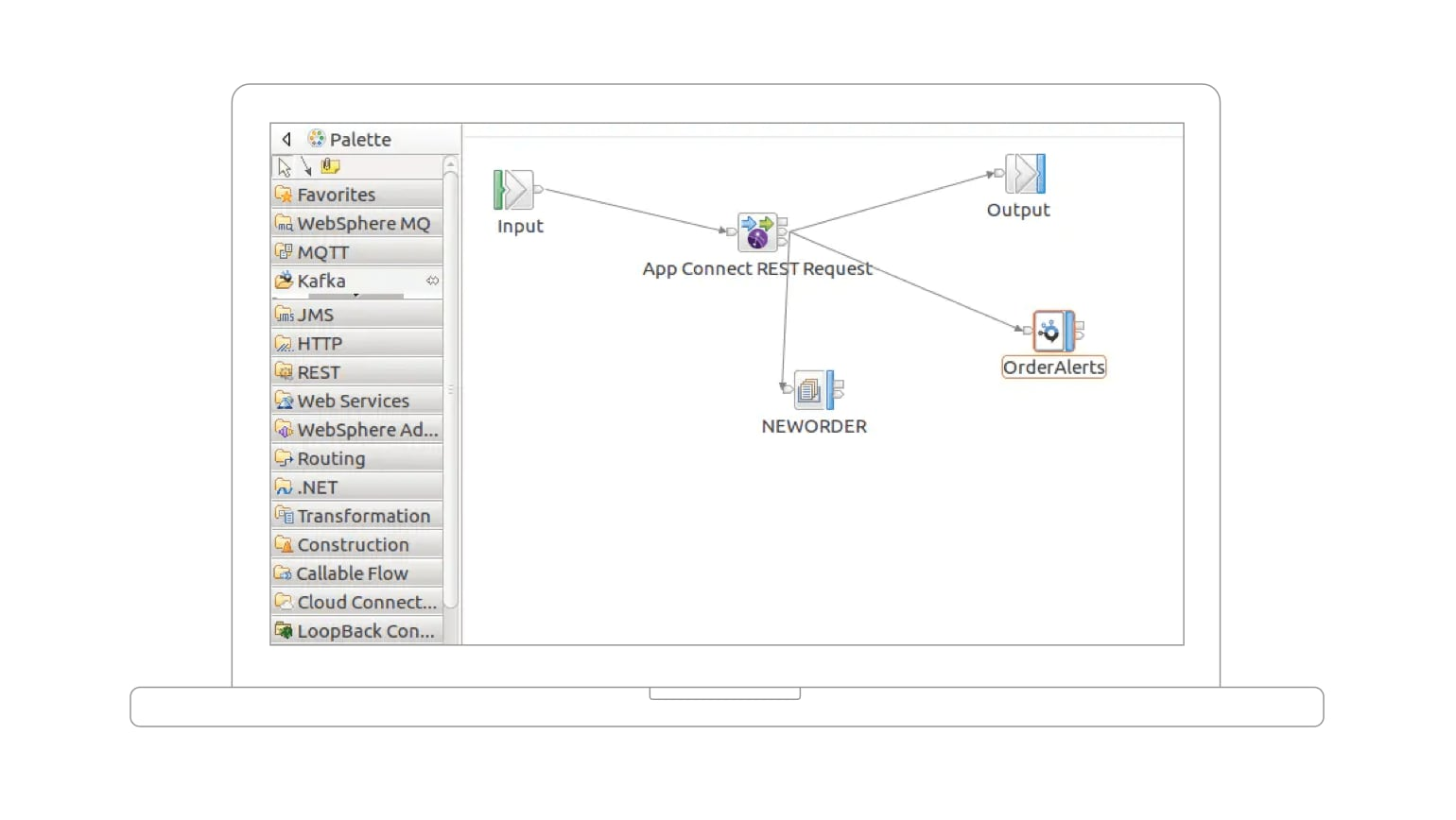 Screenshot showing backend system connections