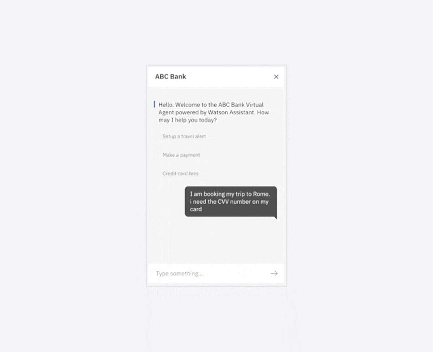 Graphic illustrations of a chatbot interface