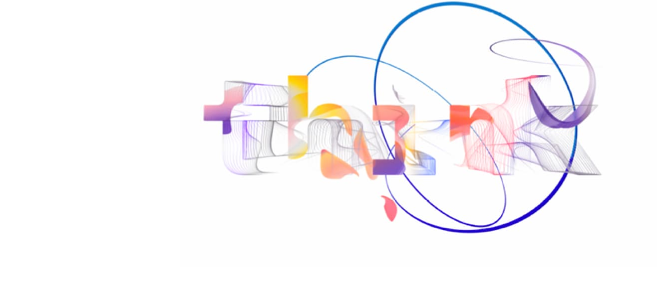 Logotipo de IBM Think 2020 en varios colores