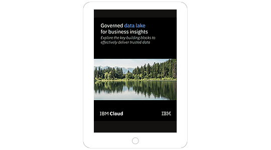 Screenshot showing the Governed data lake for business insights ebook