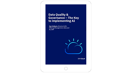 Screenshot showing the Data Quality & Governance - The Key to Implementing AI webinar