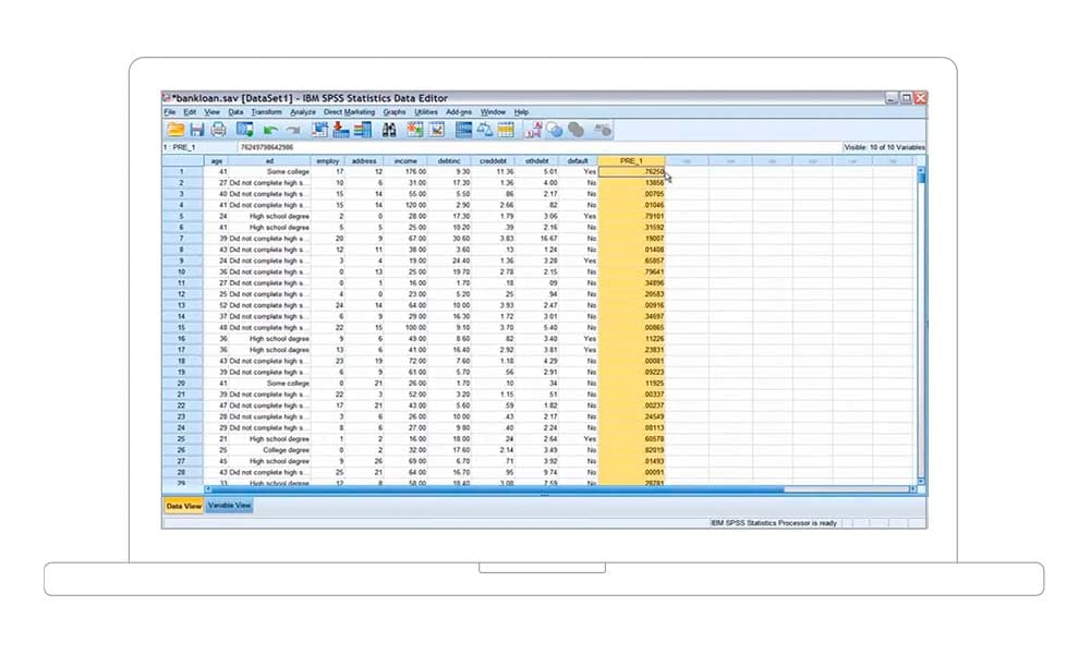 IBM SPSS Statistics Regression in action