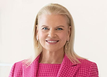 Ginni Rometty smiling
