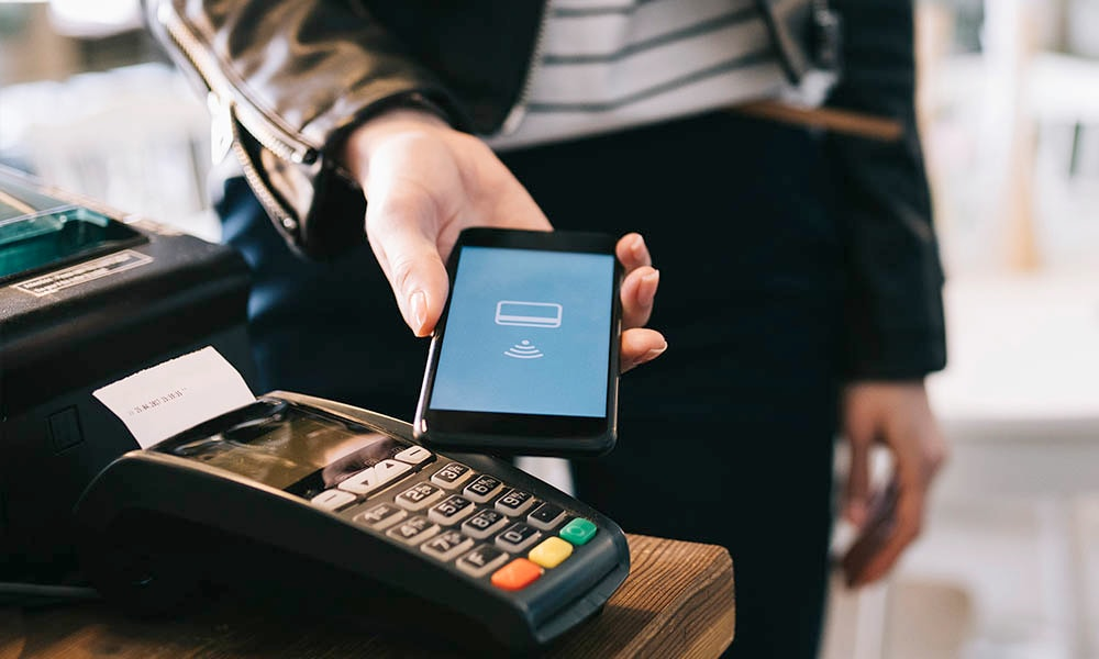 Customer using mobile payment
