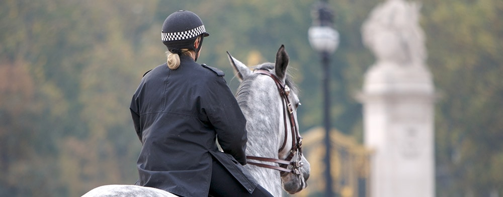 Mounted policewoman
