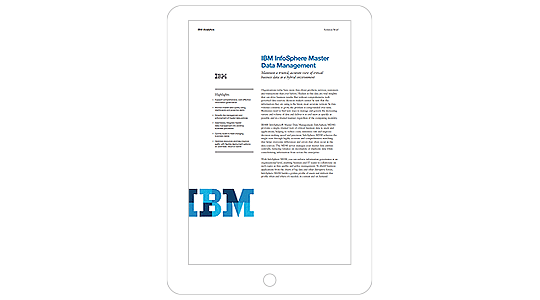 Screenshot of the IBM InfoSphere Master Data Management brief